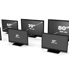 Wymiary telewizorów