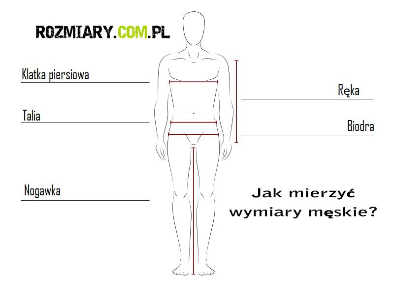 rozmiary męskie