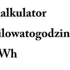 kWh na MWh, m3, Gj, Mj i J