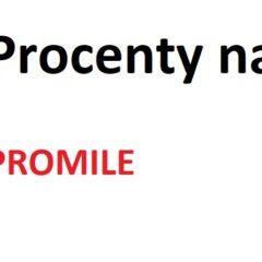 Procenty na promile