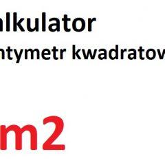 cm2 na m2 i mm2