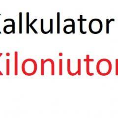 Kiloniuton – kN na kG, N i Tony